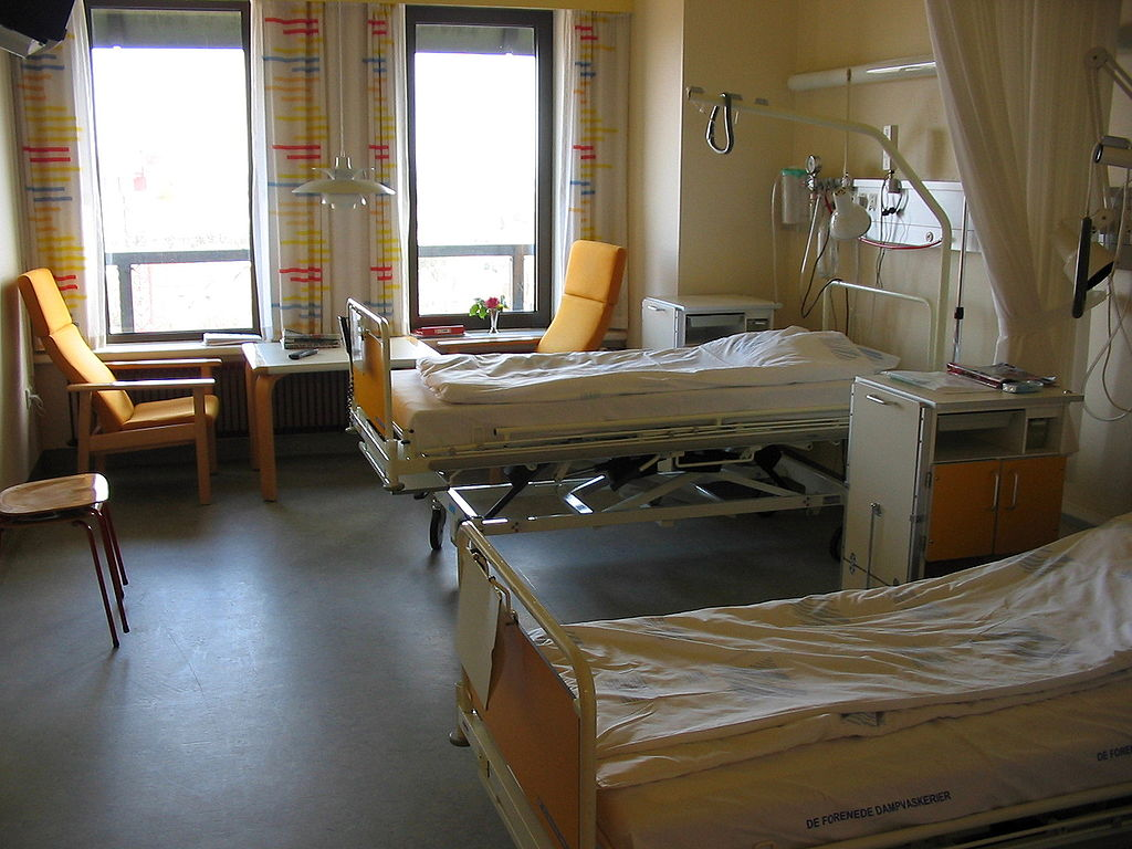 Hospital room denmark public domain