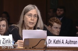 Dr. Kathi Aultman, former abortionist turned prolife, testifying before the Senate Judiciary Committee on Mar. 15, 2016 (CLI/2016)