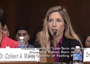 (Dr. Colleen Malloy, M.D., neonatologist, testifying before the Senate Judiciary Committee on Mar. 15, 2016)