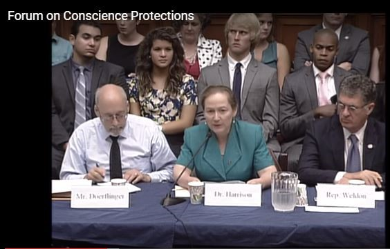 Dr. Donna Harrison, CLI Associate Scholar, speaking at the House Energy and Commerce Forum on Conscience Protections.