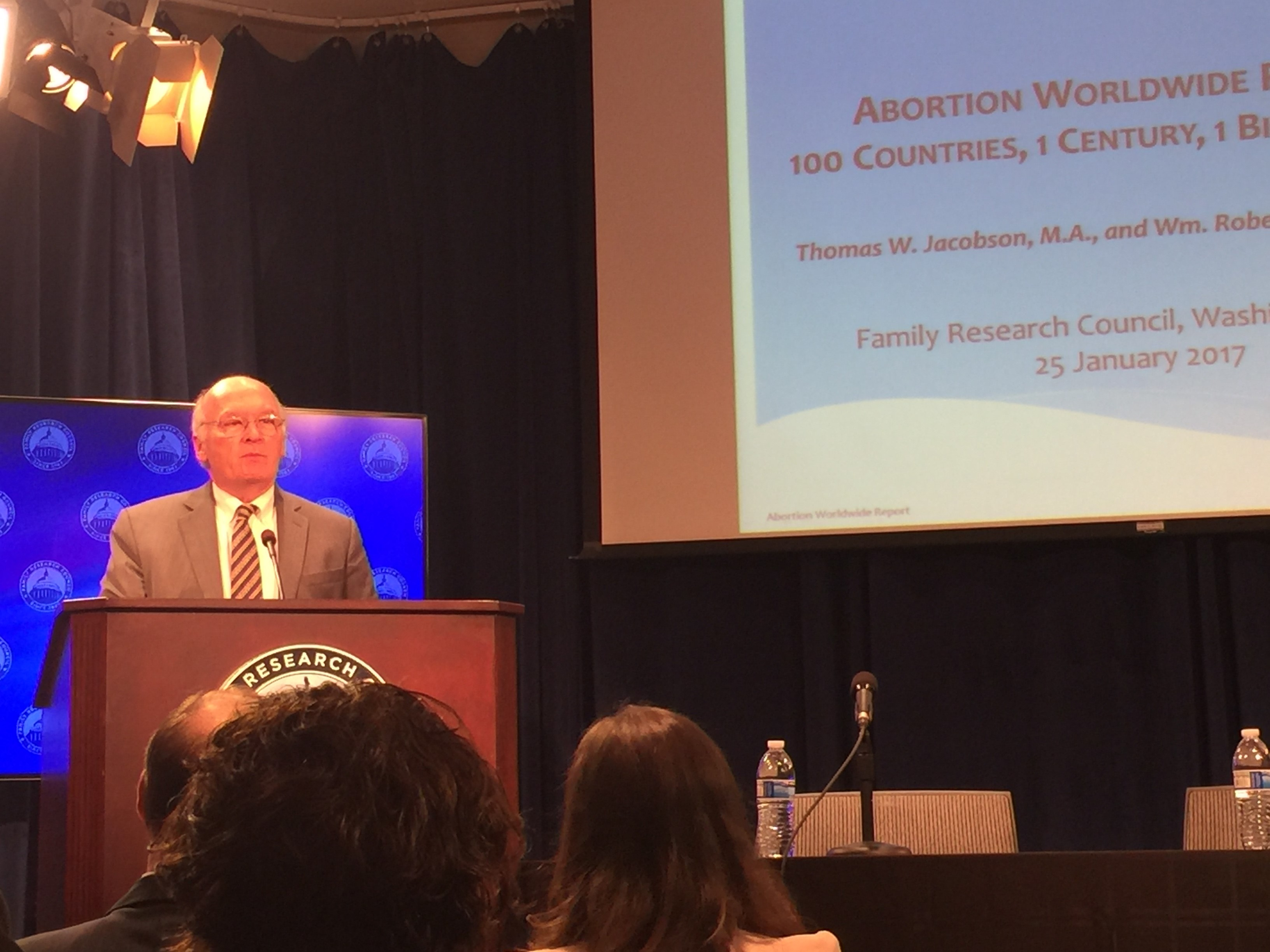 CLI President Chuck Donovan presents at Family Research Council on January 25, 2017.
